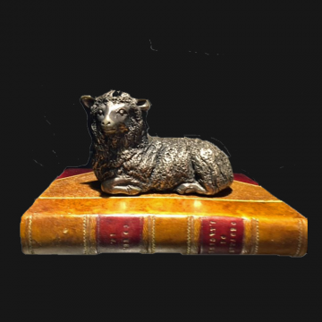 Sheep On Book Paperweight