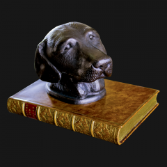 Labrador Head On Book Paperweight