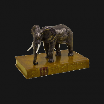 Elephant On Book Paperweight