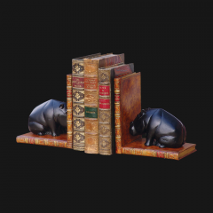 Hippo Bookends Black Pair