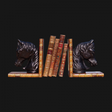 Horse Bookends Black Pair