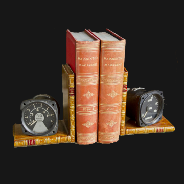 Aircraft dial bookends