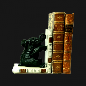 Elephant Bookends Black pair