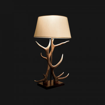Double Antler Table Lamp
