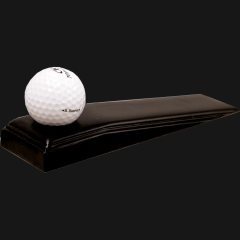 Golf Ball on powder coated steel Wedge