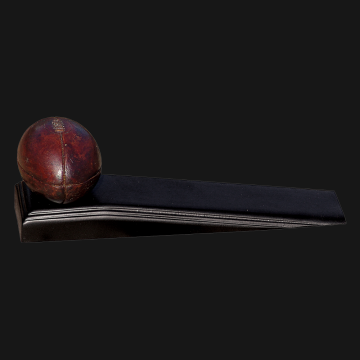 Antique Rugby Ball on Wedge
