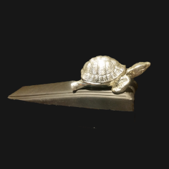Tortoise Silver Plate Door Wedge