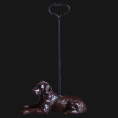 Bronze Large Labrador with  handle
