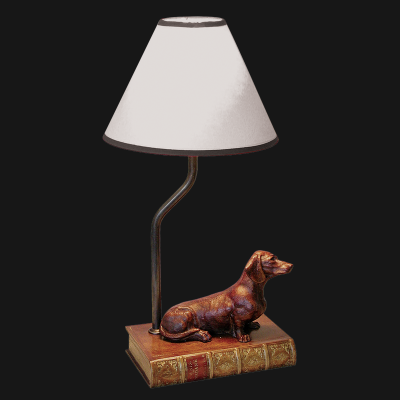 Dachshund Lamp With Shade L0521