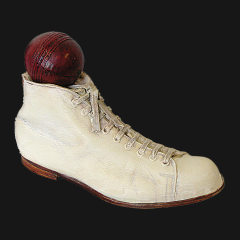Antique Cricket Boot Doorstop