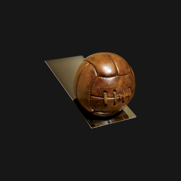 Football Doorstop on Base