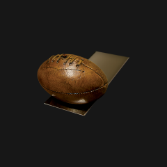 Rugby Ball Doorstop on Base