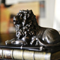 Bronzed Lion with Pen Holder