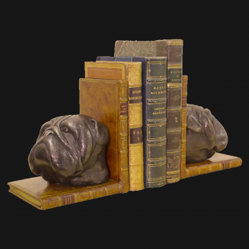 Bulldog Head Bookends