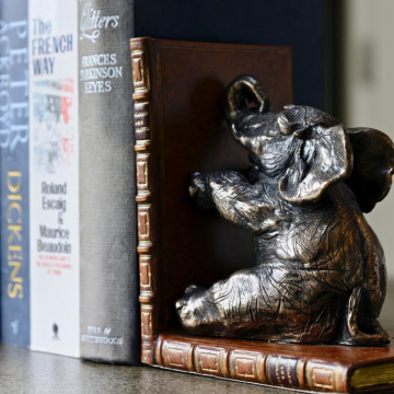 Elephant Bookends Bronzed pair