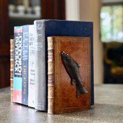 Fish Bookends Bronzed Pair