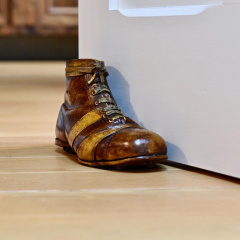 Antique Football Boot Doorstep
