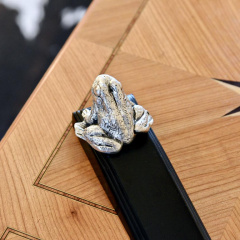 Silver Plated Frog Door Wedge