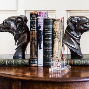 Greyhound Bookends Pair