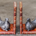 Grouse Bookends Bronzed Pair