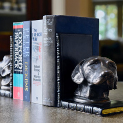 Labrador Bookends Bronzed Pair