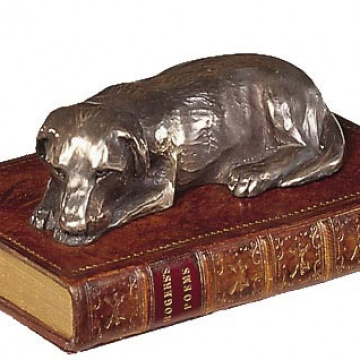 Labrador On Book Paperweight