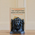 Lion Bookends Pewter Colour Pair