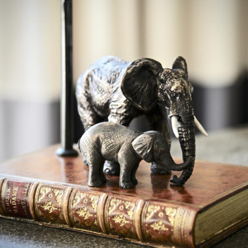 Mother & Baby Elephant Lamp