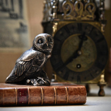 Owl on Book Paperweight