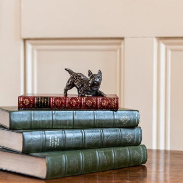 Scottie Dog On Book Paperweight