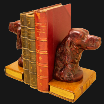 Setter on Molieres Bookends
