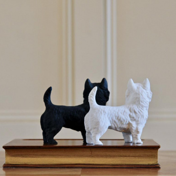 Terriers Faux Book Pen Holder