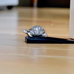 Silver plated Tortoise Door Wedge